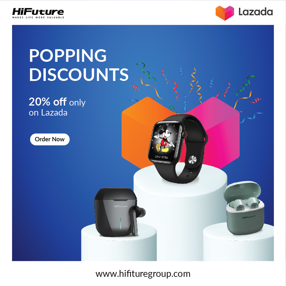 Shop with HiFuture & Get 20% Discount on LAZADA Philippines